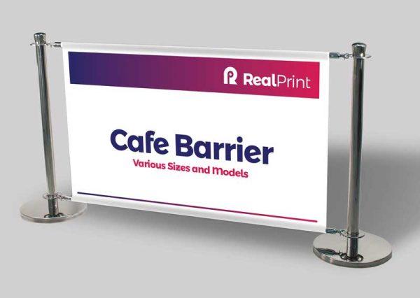 Cafe Barrier Sign